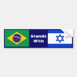 Autocollant De Voiture Le Brésil se tient avec l'Israël