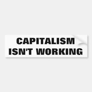 Autocollant De Voiture Le capitalisme ne fonctionne pas