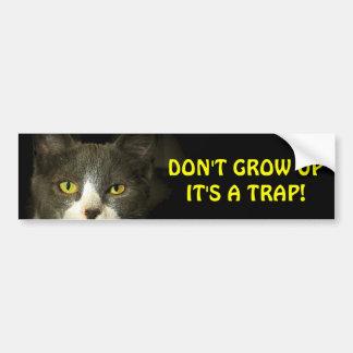 Autocollant De Voiture Le chat de butoir indique ne grandissent pas Meme