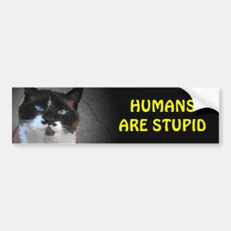 Autocollant De Voiture Le chat de moustache indique que les humains sont