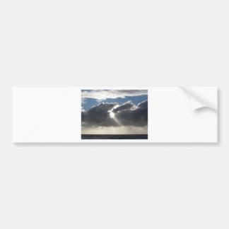 Autocollant De Voiture Le ciel avec les cumulonimbus et le soleil de