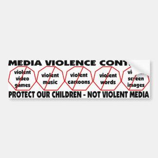 Autocollant De Voiture Le contrôle de violence de médias PROTÈGENT NOS