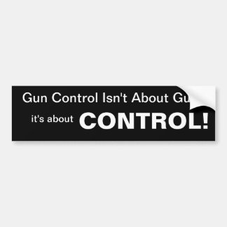 Autocollant De Voiture Le contrôle des armes n'est pas au sujet des armes