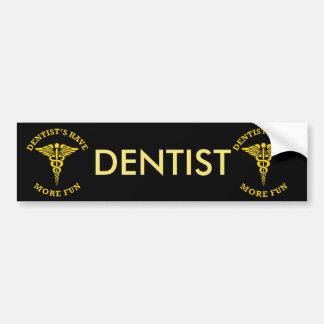 Autocollant De Voiture Le dentiste ont plus de bouclier de coutume
