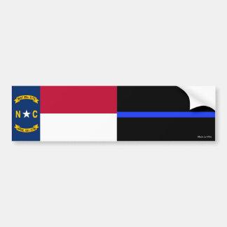 Autocollant De Voiture Le drapeau d'état d'OR et le Blue Line mince
