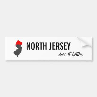 """Autocollant De Voiture """"Le Jersey du nord il améliore"""" l'adhésif pour"""