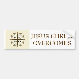 """Autocollant De Voiture Le """"Jésus-Christ grec surmonte """""""