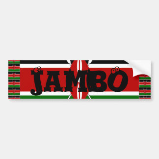 Autocollant De Voiture Le Kenya Hakuna Matata et moi aiment le Kenya