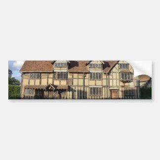Autocollant De Voiture Le lieu de naissance de Shakespeare dans Stratford