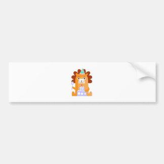 Autocollant De Voiture Le lion avec la partie attribue génial stylisé