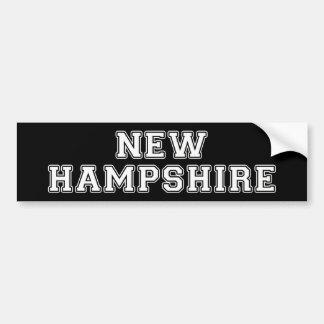 Autocollant De Voiture Le New Hampshire