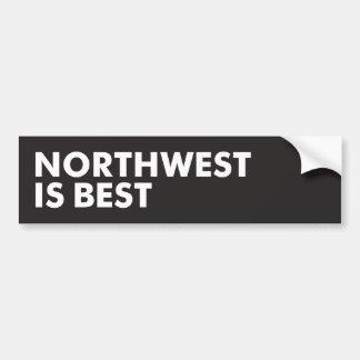 Autocollant De Voiture Le nord-ouest est le meilleur