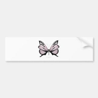 Autocollant De Voiture Le papillon rose petit rougissent