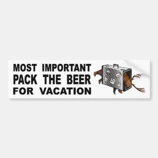 Autocollant De Voiture Le plus important il est d'emballer la bière pour