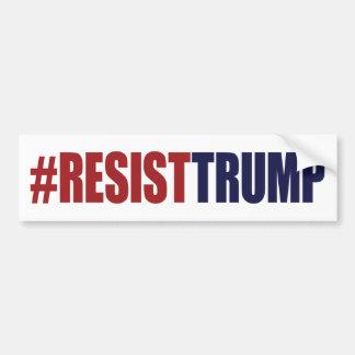 Autocollant De Voiture Le #ResistTrump résistent au Président Trump -