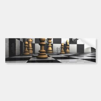 Autocollant De Voiture Le Roi Play d'échecs