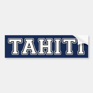 Autocollant De Voiture Le Tahiti