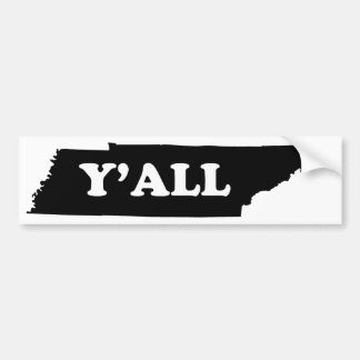 Autocollant De Voiture Le Tennessee Yall