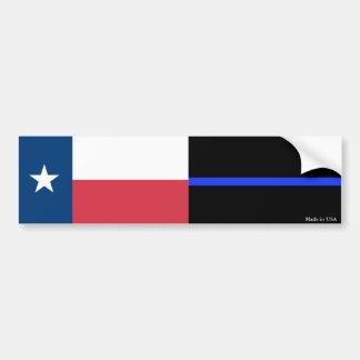 Autocollant De Voiture Le Texas et la police amincissent l'adhésif pour