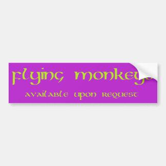 Autocollant De Voiture Le vol Monkeys l'adhésif pour pare-chocs