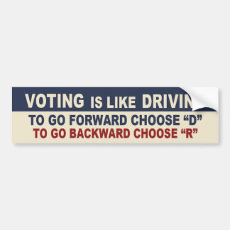 Autocollant De Voiture Le vote est comme l'entraînement