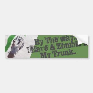 Autocollant De Voiture le zombi prennent garde