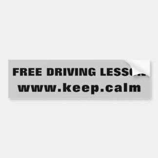 Autocollant De Voiture Leçon libre www.keep.ca LM d'entraînement