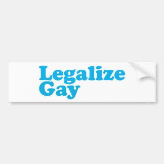 Autocollant De Voiture Légalisez les bleus layette gais