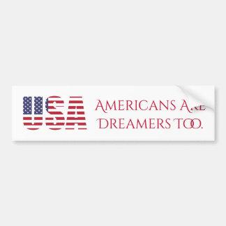Autocollant De Voiture Les Américains des Etats-Unis | sont les rêveurs