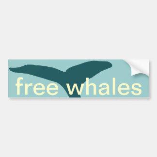 Autocollant De Voiture les baleines