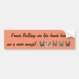 Autocollant De Voiture Les bouledogues français sont comme des pommes