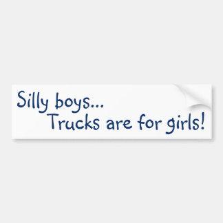Autocollant De Voiture Les camions sont pour des filles ! Adhésif pour