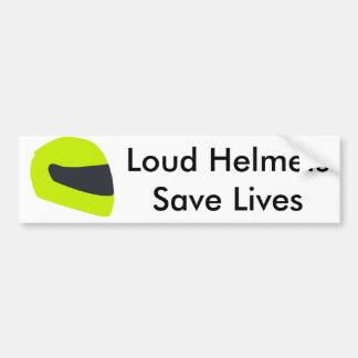 Autocollant De Voiture Les casques bruyants sauvent les vies