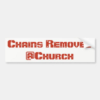 Autocollant De Voiture Les chaînes ont enlevé l'autocollant de @Church