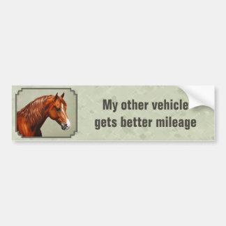Autocollant De Voiture Les chevaux obtiennent un meilleur cheval de