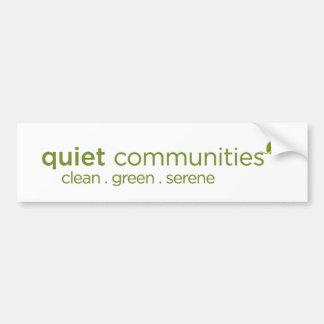 Autocollant De Voiture Les Communautés tranquilles