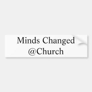 Autocollant De Voiture Les esprits ont changé l'autocollant de @Church