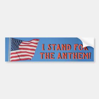 Autocollant De Voiture Les Etats-Unis marquent le support pour l'hymne