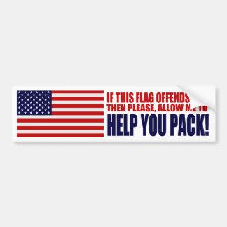 Autocollant De Voiture Les Etats-Unis si ce drapeau vous offense