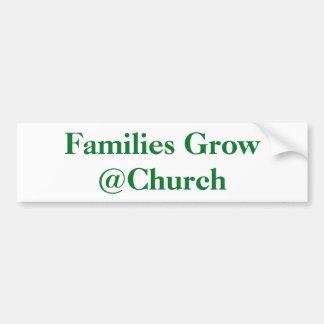 Autocollant De Voiture Les familles élèvent l'autocollant de @Church