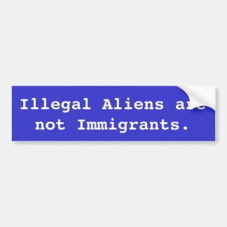 Autocollant De Voiture Les immigrés clandestins ne sont pas des immigrés