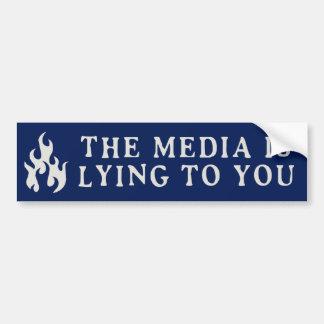 Autocollant De Voiture Les médias ment à vous