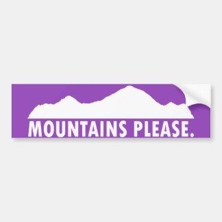 Autocollant De Voiture Les montagnes satisfont