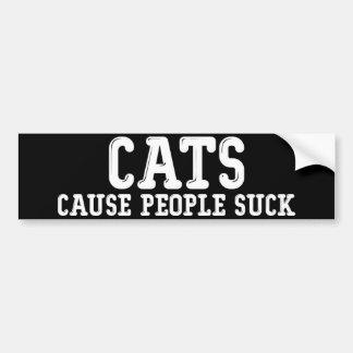 Autocollant De Voiture Les personnes de cause de chats sucent