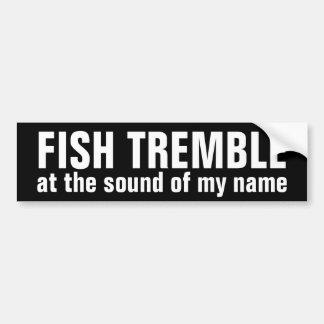 Autocollant De Voiture les poissons tremblent @ le bruit de mon adhésif