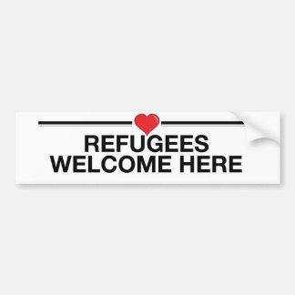 Autocollant De Voiture Les réfugiés souhaitent la bienvenue ici