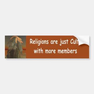 Autocollant De Voiture les religions sont juste des cultes