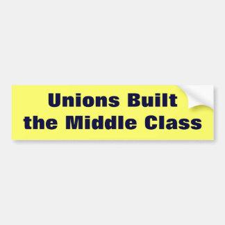 Autocollant De Voiture Les syndicats ont établi la classe moyenne