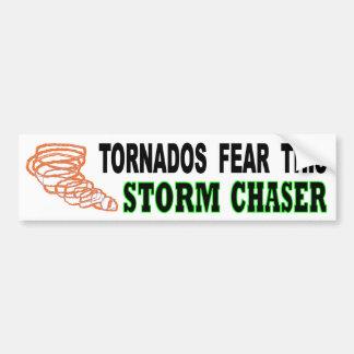Autocollant De Voiture Les tornades craignent ce chasseur de tempête