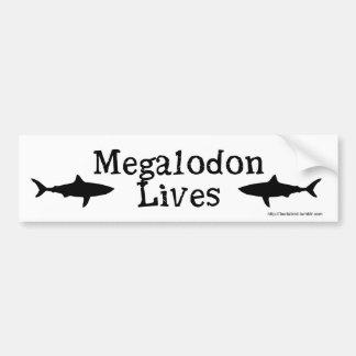 Autocollant De Voiture Les vies de Megalodon !  Adhésif pour pare-chocs